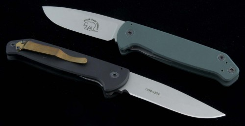 Black Bear Other Metro Razor S/E Folder Knife (3.5in Bead Blasted Plain S-30V (CMP)) BB-MetroRazor - Front