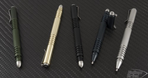 (#RH-INV-AL-BLA) Rick Hinderer Investigator Pen - Black Aluminum - Front