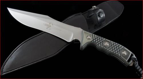 Microtech Knives Custom Other Arbiter D/E Fixed Knife (9in Bead Blasted Plain S35-VN) arbitercust - Front