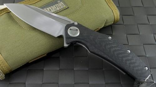 Microtech Knives Custom Other Matrix S/E Flipper Knife (3.75in Satin Plain) Matrix-C-Sat - Front