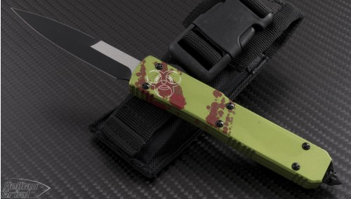 (#120-1Z) Microtech Zombie Ultratech Bayonet Standard - Front