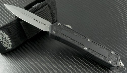 Microtech Knives Scarab D/E Automatic OTF D/A Knife (3.44in Bead Blasted Plain S35-VN) 175-7 - Front