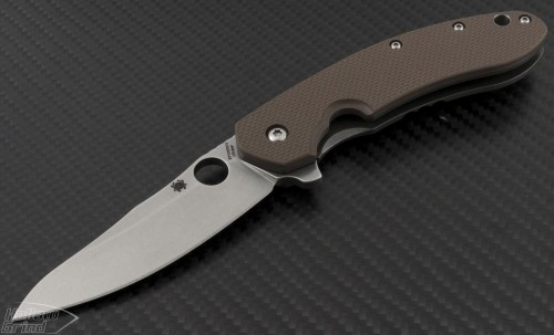 Spyderco Other Southard S/E Flipper Knife (3.44in Stonewashed Plain CTS-204P) SPY-C156GPBN - Front