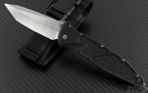 Microtech Knives Socom Elite T/E Folder Knife (4in Satin Plain S35-VN) 162-4C - Front