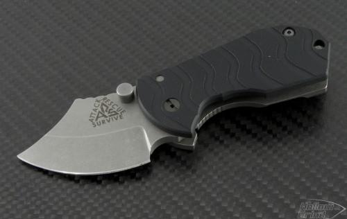 ARS Flip Shank S/E Folder S/A Knife (2in Stonewashed Plain 154-CM) ARS-FS-BK - Front