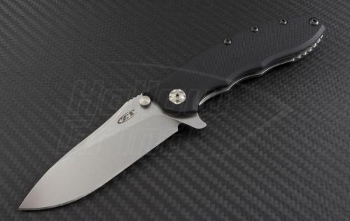 Zero Tolerance 0562 S/E Flipper Knife (3.5in Stonewashed Plain ELMAX) ZT0562 - Front