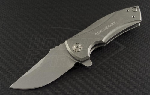 Zero Tolerance Silver 0900 S/E Flipper S/A Knife (2.5in Stonewashed Plain S35-VN) ZT0900 - Front