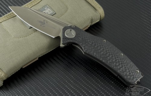 Microtech Knives Custom Other Matrix S/E Flipper Knife (3.75in Bead Blasted Plain COWRY-Y) Matrix-C - Front