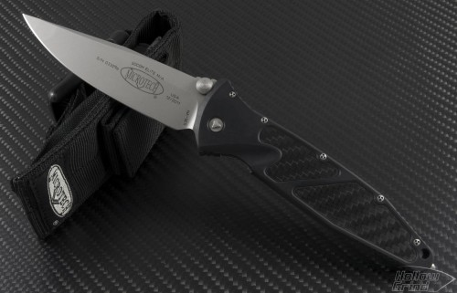 Microtech Knives Socom Elite S/E Folder Knife (4in Bead Blasted Plain S35-VN) 160-7 - Front