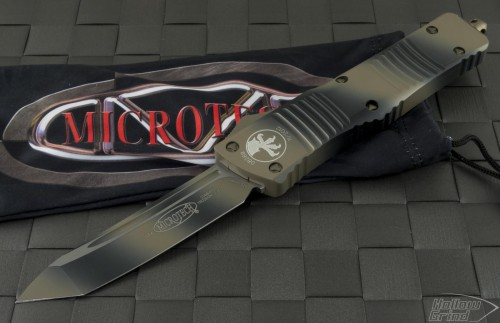 Microtech Knives Other Combat Troodon T/E Automatic OTF D/A Knife (3.75in Color Coated Plain CTS-204P) 144-1TC - Front