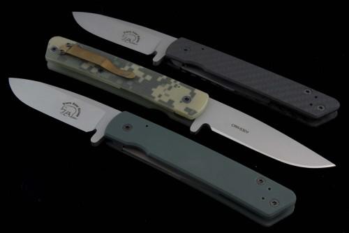 Black Bear Other Woodsman S/E Folder Knife (3.9in Bead Blasted Plain S-30V (CMP)) BB-Woodsman - Back