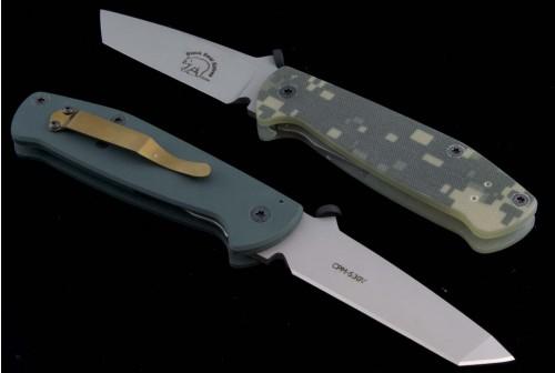 Black Bear Other Guardian T/E Folder Knife (3.5in Bead Blasted Plain S-30V (CMP)) BB-Guardian - Back