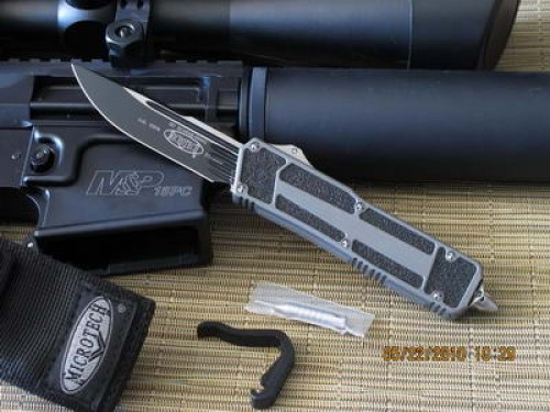 Microtech Navy Seals Scarab - Gray Handle - Plain - Additional View