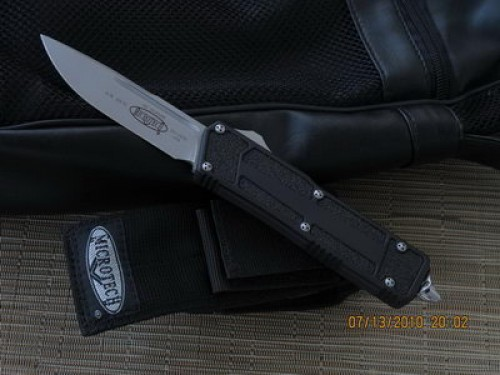 Microtech Scarab - S/E - Bead Blast - Plain - Front
