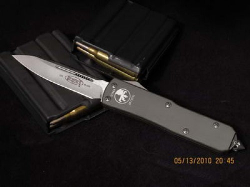 Microtech UT-X85 - Stonewash - Plain - Front