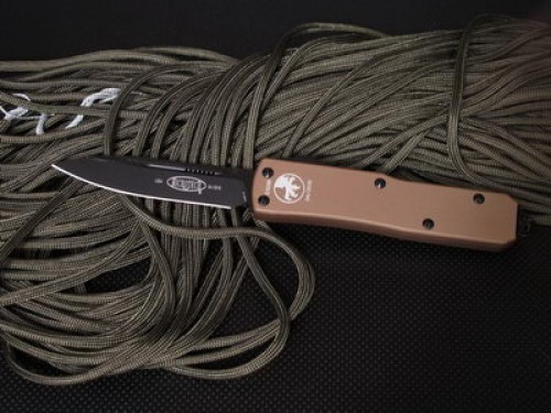 Microtech UT-X85 - COPPER Handle - Black Plain Blade - Front