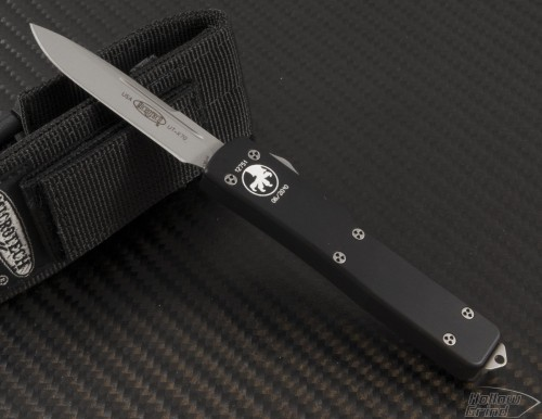 Microtech Knives UTX-70 S/E Automatic OTF D/A Knife (2.41in Satin Plain S35-VN) 148-7 - Front