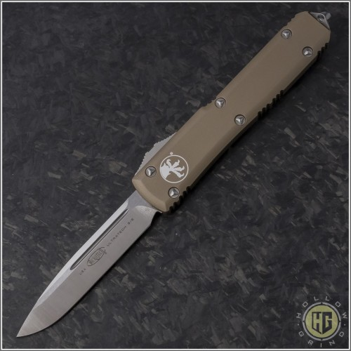 (#121-4TA) Microtech Tan Ultratech S/E Satin Plain - Front