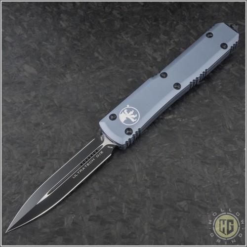 (#122-1GYCC) Microtech Gray Ultratech Black D/E Plain Contoured Chasis - Front