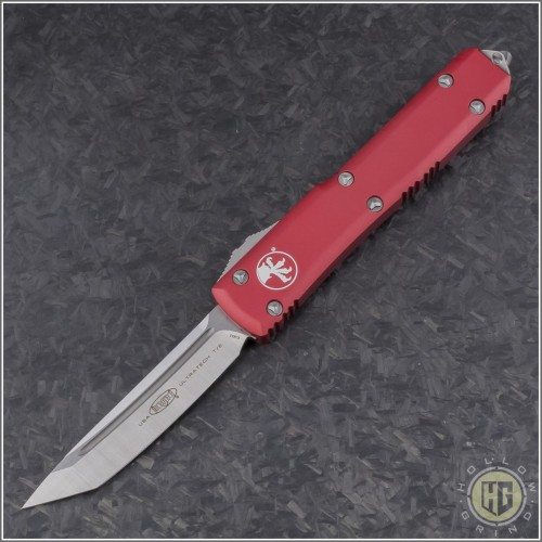(#123-4RD) Microtech Red Ultratech T/E Satin Plain - Front