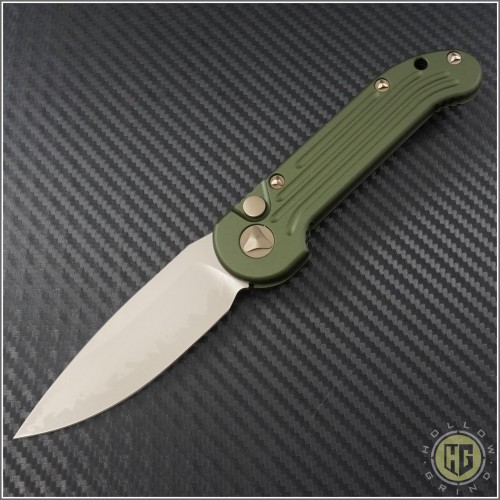 (#135-13KAOD) Microtech LUDT S/E Bronzed Standard w/ OD Green Handle - Front