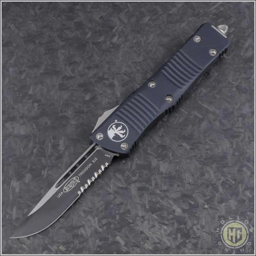 (#139-2) Microtech Troodon S/E Partially Serrated - Front