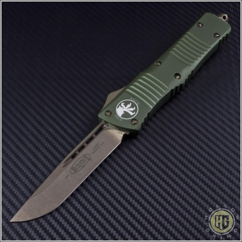 (#143-13OD) Microtech OD Green Combat Troodon S/E Bronze Plain - Front