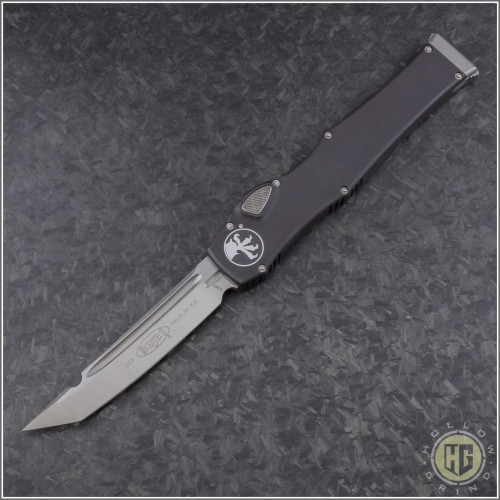 (#250-4NS) Microtech Halo VI T/E Satin Plain No Safety - Front