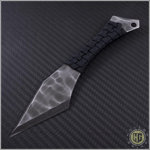 (#HER-Chimera-Black) Heretic Knives Chimera Neck Knife w/ Black cord - Front