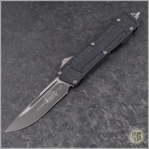 (#HG-0113) Microtech QD Scarab S/E Black Plain - Front