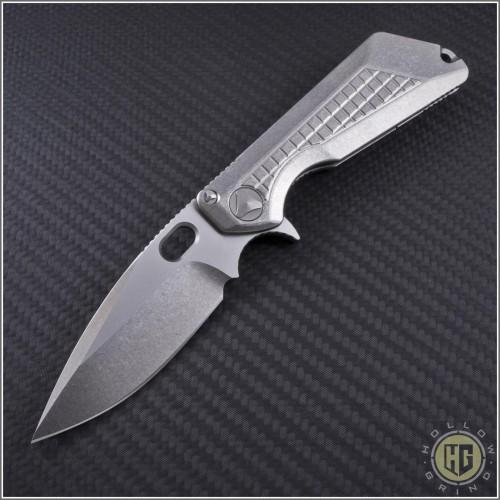 (#MTC-0102) Marfione Custom MSG-3 Frag Stonewash Titanium - Front