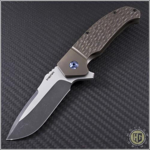 (#PENA-DSL-001) Pena Knives Diesel Flipper - Front