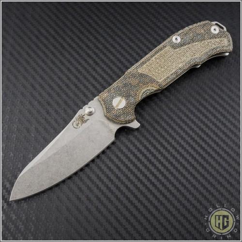 (#RH-MP1-M4) Rick Hinderer MP-1 Titanium Micarta Framelock - Front