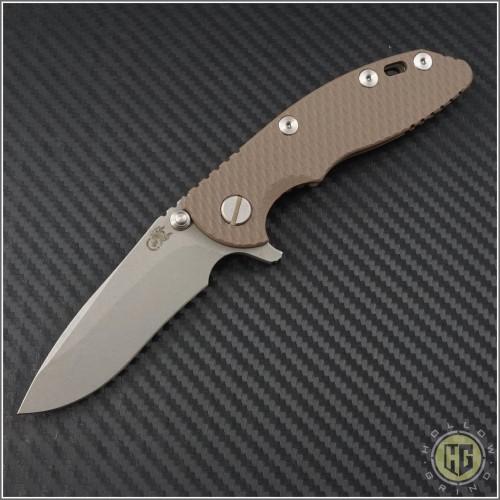 "(#RH-XM1830-5) Rick Hinderer XM-18 3"" Recurve - Working Finish - Front"
