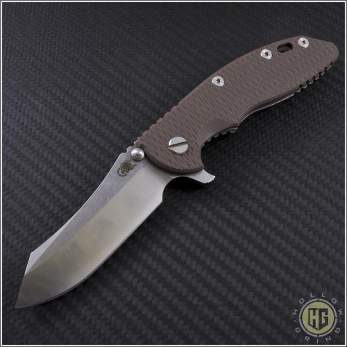 "(#RH-XM1835-LE-10) Rick Hinderer XM-18 3.5"" Limited Edition 2-Tone Skinner - Front"