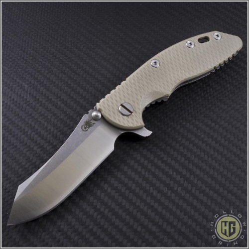 """(#RH-XM1835-LE-4) Rick Hinderer XM-18 3.5"""" Limited Edition 2-Tone Skinner - Front"""