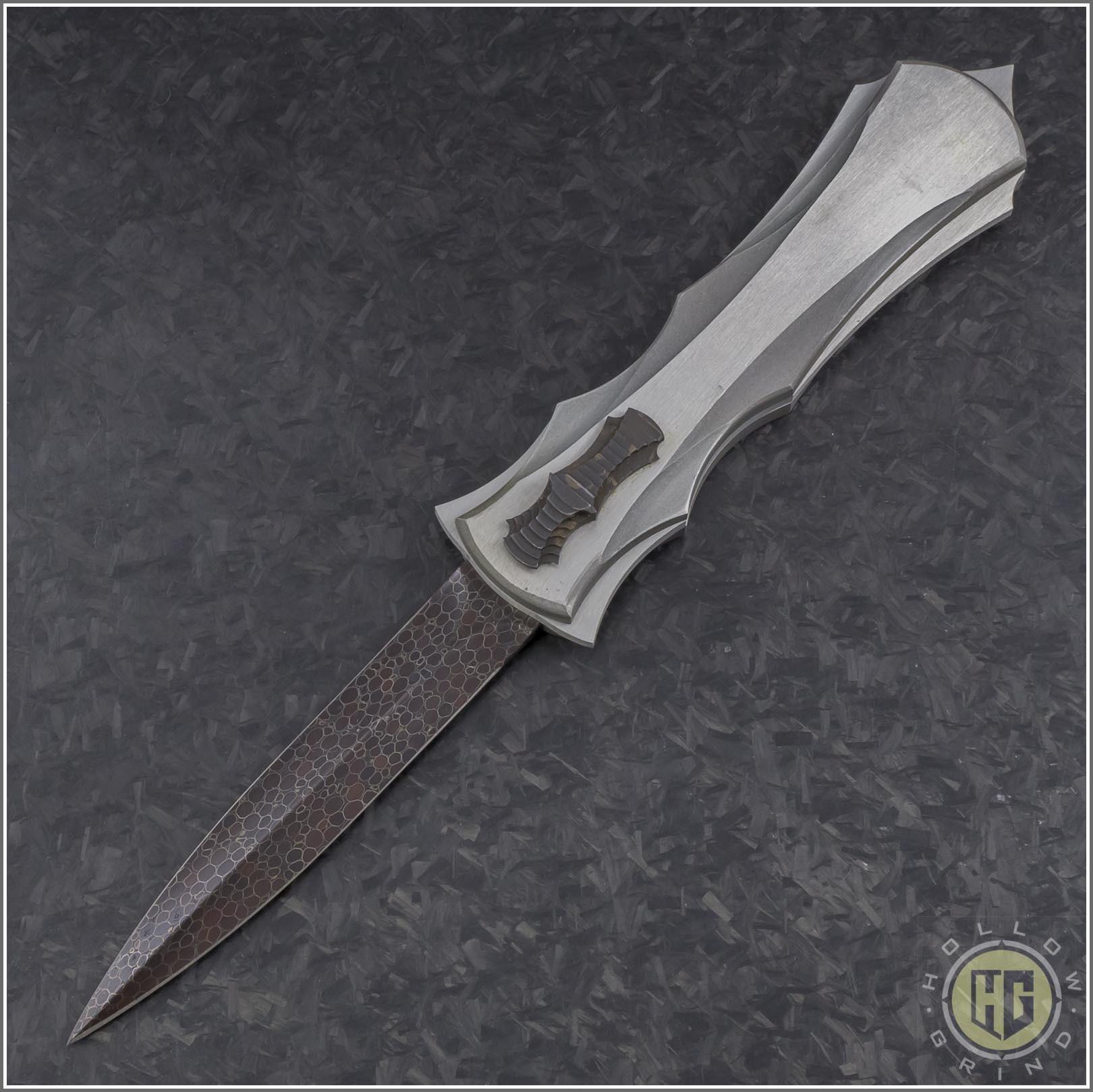 """8/""""x4/"""" Damascus Steel Billet Bar-Knife-Razor Making Supplies-Annealed"""