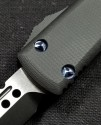 (#119-1DLCGTBK) Microtech Ultratech Hellhound Black G-10 Composite Top DLC Standard - Additional View