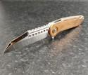 (#MTC-0288) Marfione Custom Copper Warhound Folder Mirror Polish - Front