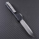 Microtech Knives UTX-85 S/E Automatic OTF D/A Knife (3in Satin Part Serr ELMAX) 231-5 - Back
