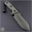 (#101-2GR) Microtech Crosshair D/E Black Partially Serrated - Back