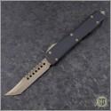 (#119-13GTBK) Microtech Ultratech Hellhound Bronzed Plain w/ G10 Top - Front