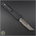 (#119-16CFC) Microtech Ultratech Hellhound Damascus Plain w/ Carbon Fiber Top and Copper Hardware - Back