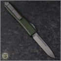(#121-10OD) Microtech Ultratech S/E Stonewash Plain w/ OD Green Contoured Handle - Back