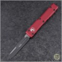 (#121-1RD) Microtech Red Ultratech S/E Black Plain - Front