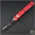 (#121-1RD) Microtech Red Ultratech S/E DLC Black Plain - Front