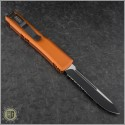(#121-2OR) Microtech Orange Ultratech S/E Black Partially Serrated - Back