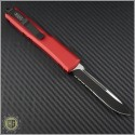 (#121-2RDCC) Microtech Red Ultratech S/E Black Partially Serrated Tactical w/ Contoured Handle - Back
