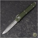(#121-4OD) Microtech OD Green Ultratech S/E Satin Plain - Front