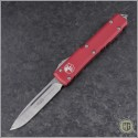 (#121-4RD) Microtech Red Ultratech S/E Satin Plain - Front